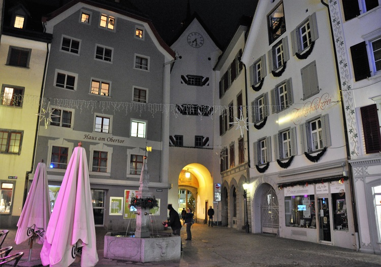 The old town of Chur is fun at night with a host of bars and restaurants.