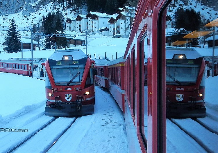 The train to Arosa ski resort (& Hochwang), runs through the middle of Chur
