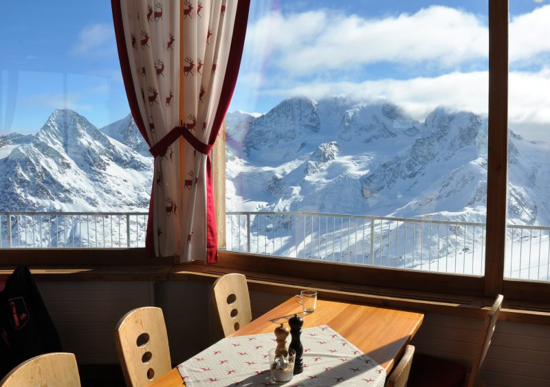 Or in the Corvatsch Bergstation restaurant at 3300m.