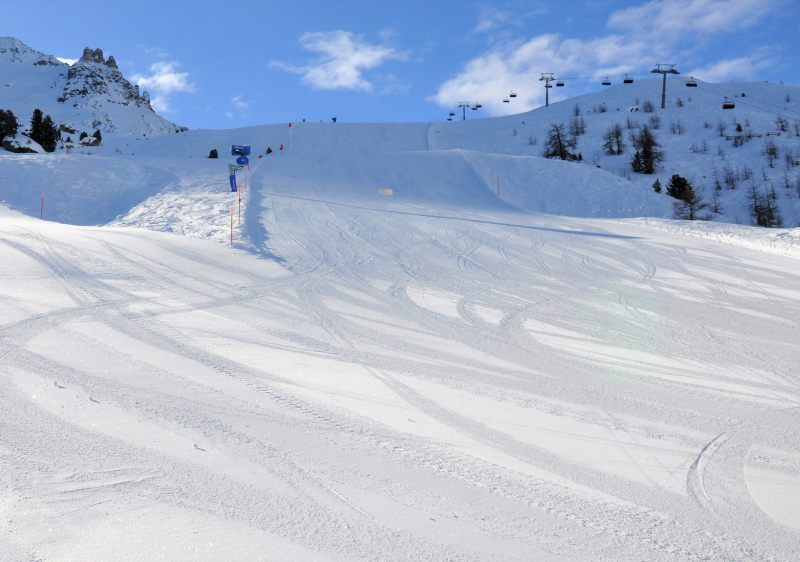 Wide intermediate trails make up over 70% of the piste at Corvatsch.