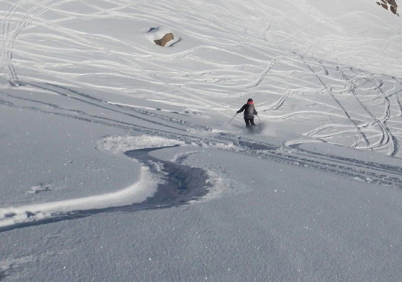 Powder skiing is the norm at Diavolezza Lagalb.
