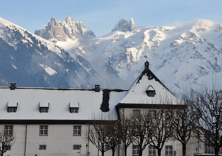 The town of Engelberg is surrounded by spectacular mountains.