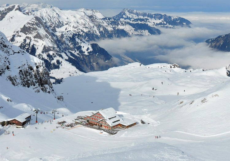 The hotel at Jochpass is one of the best Engelberg ski in / ski out lodgings.