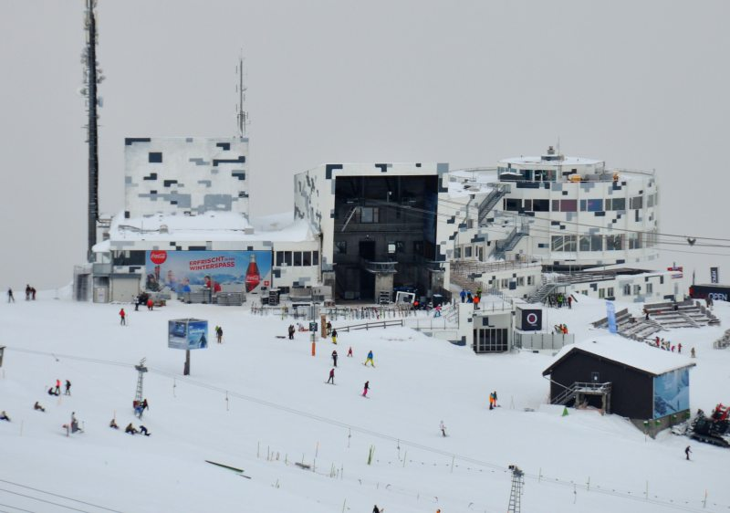 Crap Sogn Gion at Laax is straight out of a James Bond movie!
