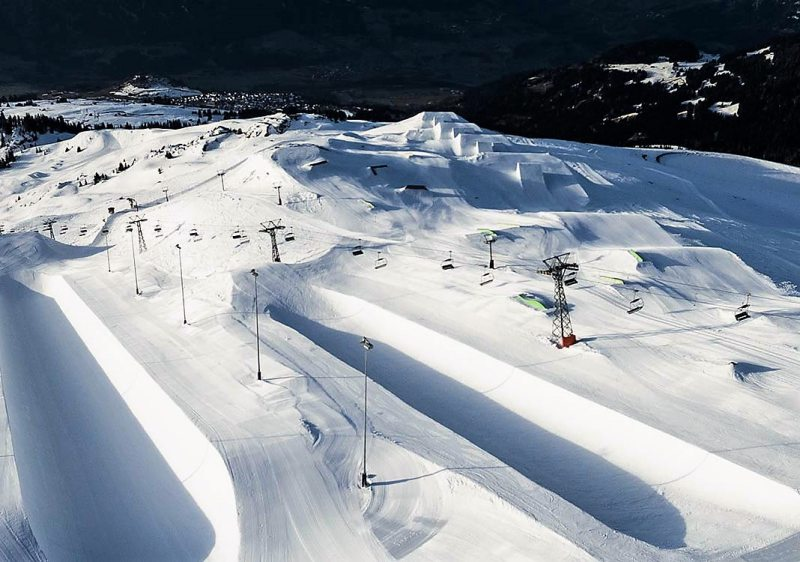 Freestylers will love the world's best terrain parks & superpipes at Laax.