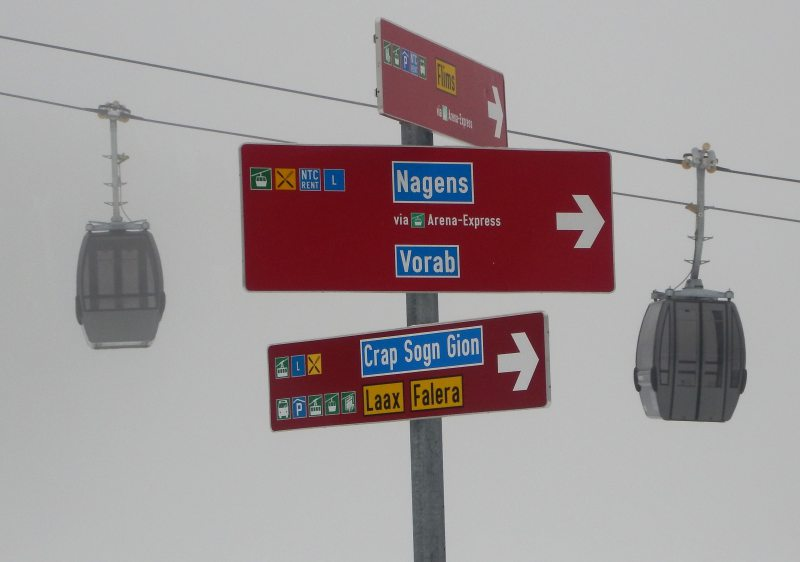 Loads of places to go at Laax ski resort.