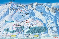 Lauchernalp Ski Trail Map