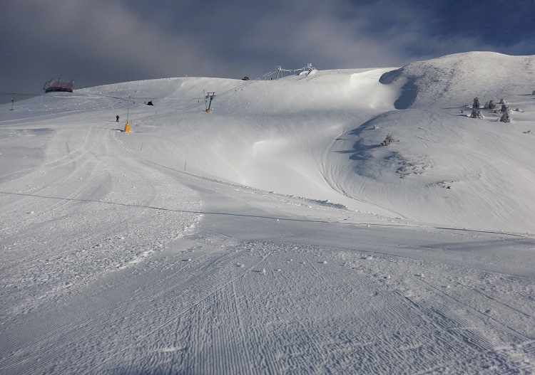 Rosswald's slopes are deserted during the week.