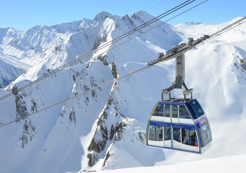 Head up to Samnaun ski resort in Switzerland