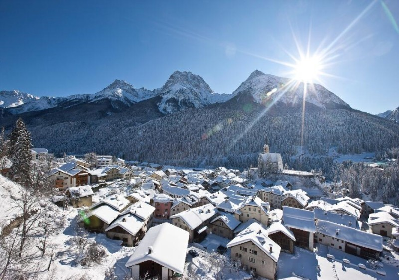 Scuol is tucked away in the mountains as remote as any place can be in Switzerland!