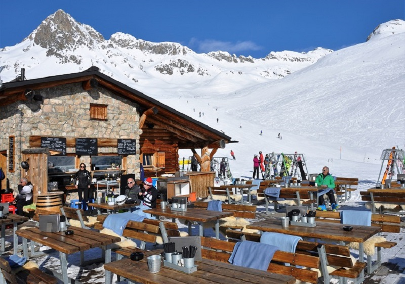 St Moritz mountain huts and restaurants are first class (Corviglia).
