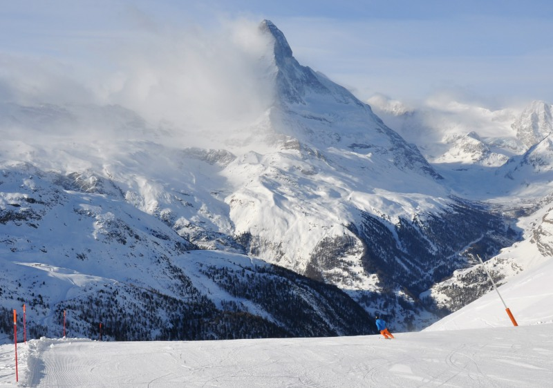 The Matterhorn - synonymous with skiing at Zermatt.