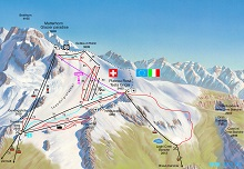 Zermatt Summer Ski Map