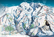 Zermatt Ski Trail & Piste Map