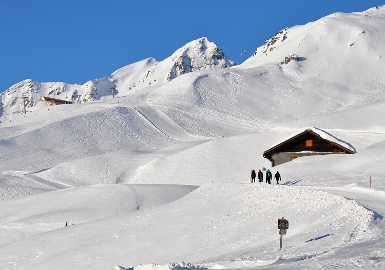 Switzerland ski resorts have loads of other activities like winter walking.