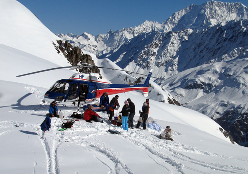 Wilderness Heli Skiing Mt Cook New Zealand