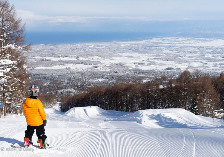 The terrain park features are the best in Japan