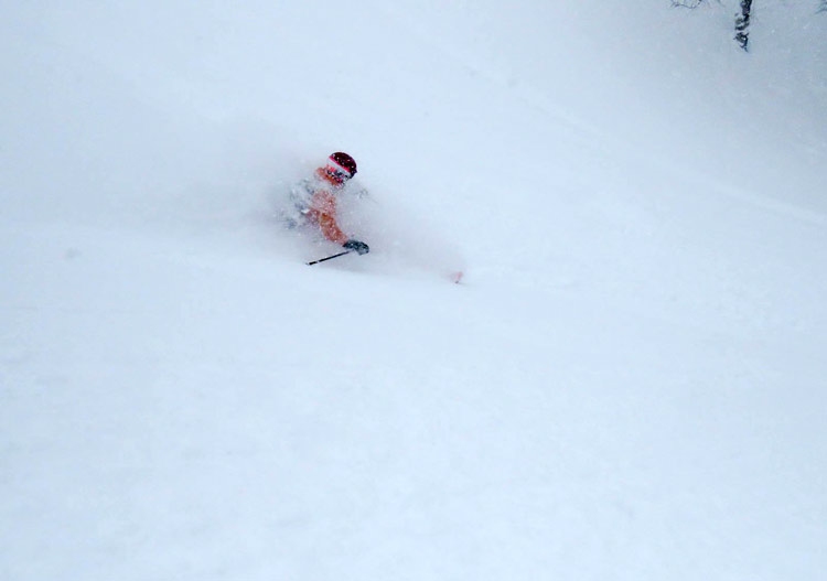 A deep day with Weiss Cat Skiing