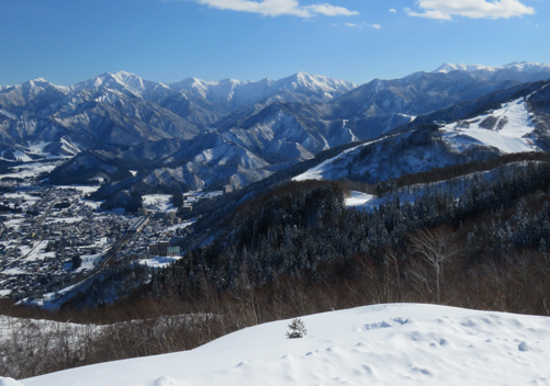 Looking across to Yuzawa