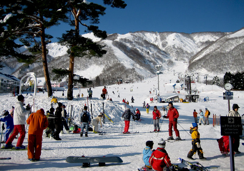 Goryu Ski Resort is popular with families