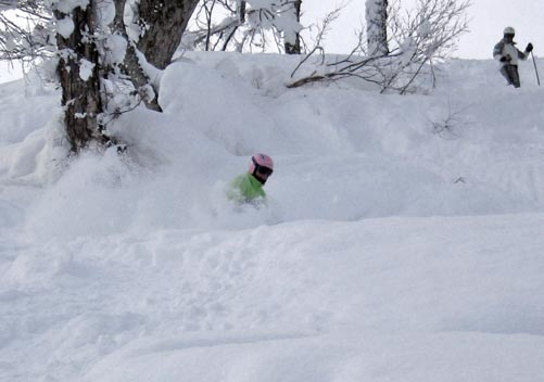The powder is often deep