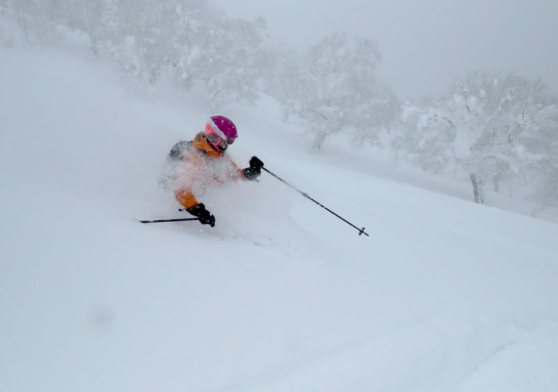 The deep powder is the forte of Kiroro Japan