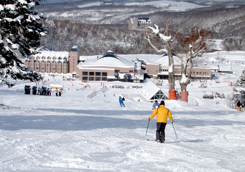 A pro is the ski-in ski-out hotel at Kiroro