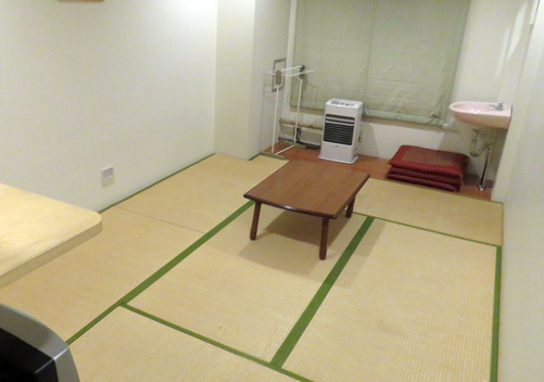 Simple Japanese style accommodation at one of the pensions