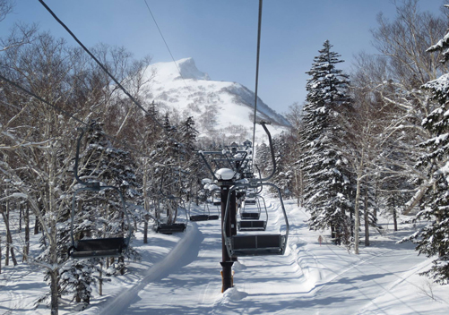 The chairlift with Black Mountain peeking through