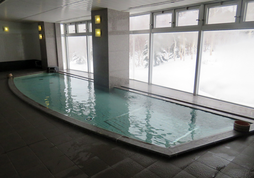 The onsen at the Okushiga Kogen Hotel