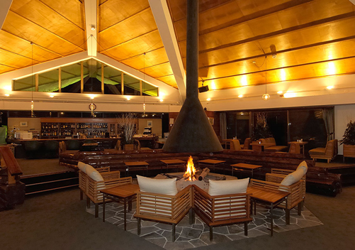 The apres bar at Okushiga Kogen Hotel