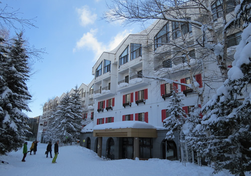 The Rusutsu Resort Hotel is very family friendly. This Rusutsu ski resort accommodation is conveniently ski in ski out. See our review.