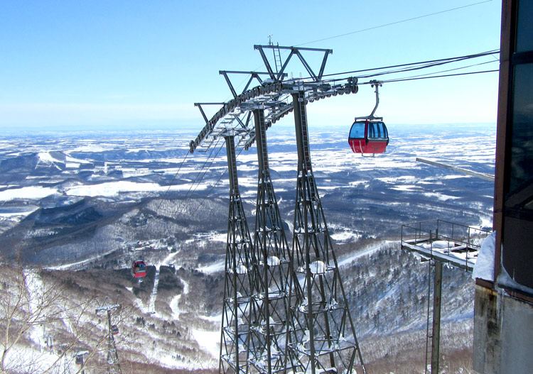 A gondola is the mainstay of the lift fleet