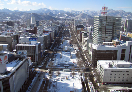 There are a few ski resorts near Sapporo