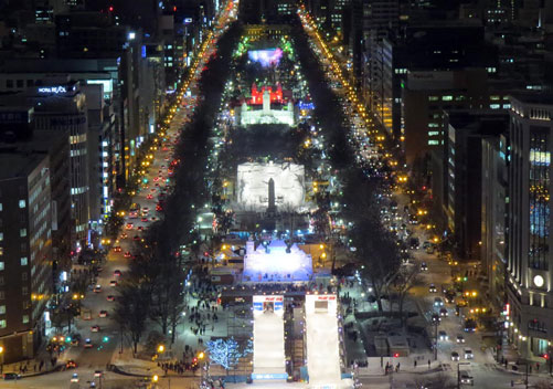 View from the Sapporo TV Tower