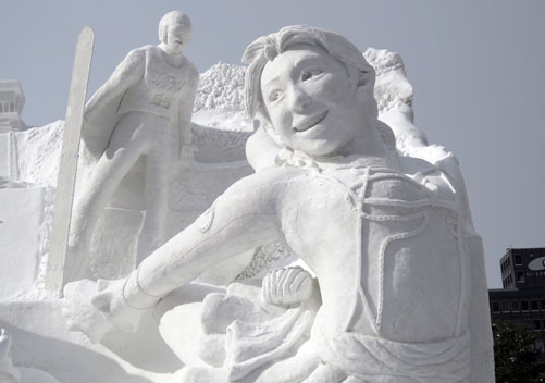 The Sapporo snow festival is in early February