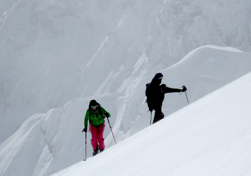 Skinning up to the peak with Tenjindaira Backcountry Tours
