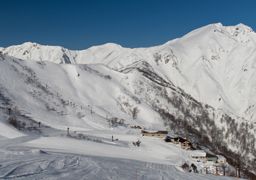 Tenjin Ski Resort with some of the backcountry
