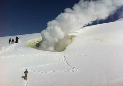 The climb up may make you steaming! Photo: Hokkaido Powder Guides
