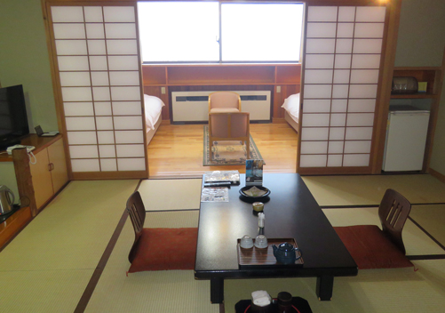 Western/Japanese room at Yuzawa Grand Hotel