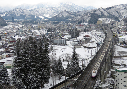 Yuzawa is very accessible via train