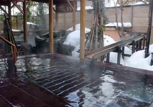 Many of the Yuzawa hotels have an onsen