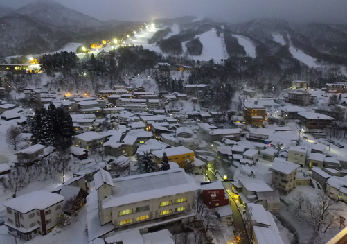 The Zao Onsen village is somewhat spread out