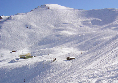An uncrowded NZ ski field