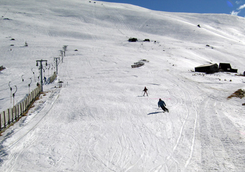 The beginners' slope at Fox Peak