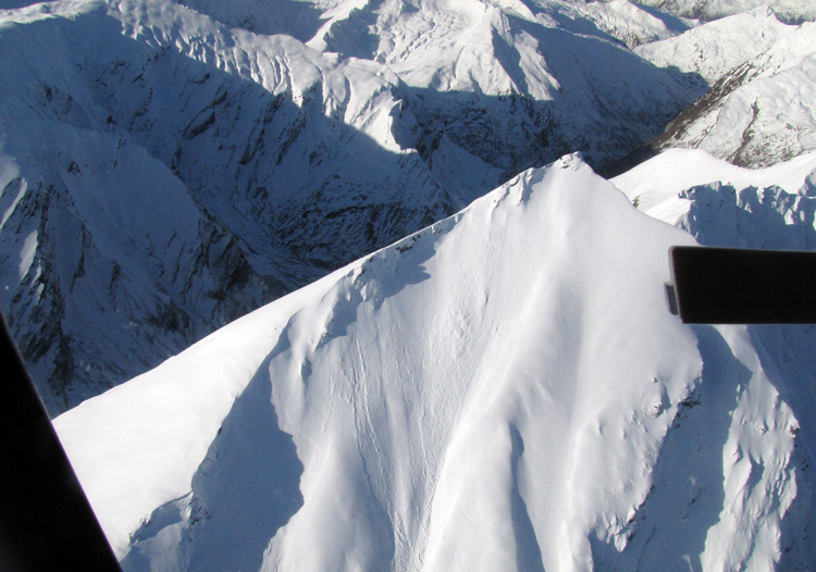 Harris Mountains Heliski has terrain for every ability; including super steep