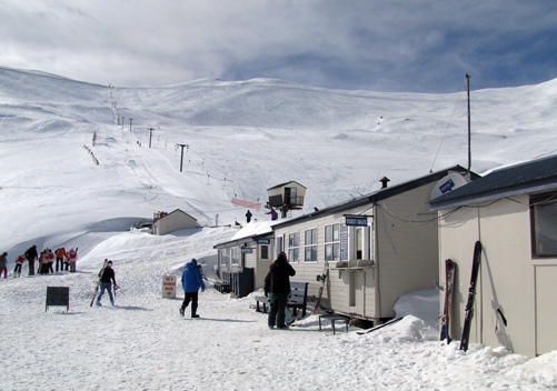 Base facilities at Mt Dobson ski field