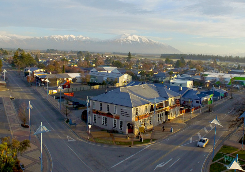 Methven is the main base where people stay when skiing Mt Hutt
