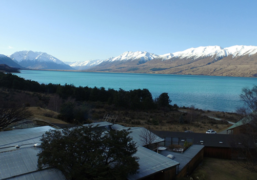 The Lake Ohau Lodge is in a beautiful setting beside the lake