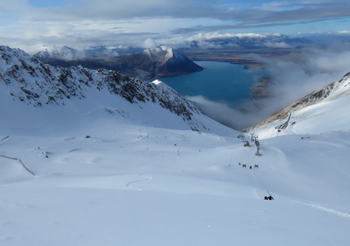 Views from the top of the Ohau Ski Field